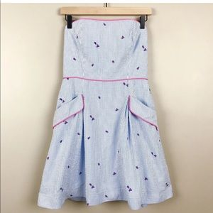 ef81697d596e Lilly Pulitzer Dresses - Lilly Pulitzer blue seersucker pink ladybug dress